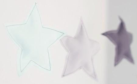 stjerneranke til drengeværelset og børneværelset i sarte farver