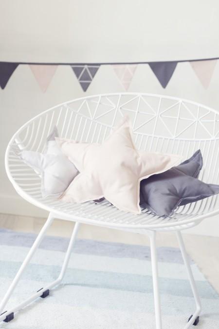 stjernepuder og flagranker til pigeværelset. nordisk design i et clean look, til den minimalistiske og bevidste mor