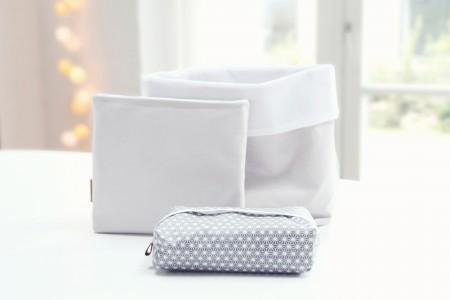 puslesæt - indeholder blepost, vådservietetui og lille opbevaringspose