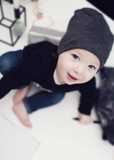 cool beanie i viscose polyester kvalitet. øko tex til baby og toddlers. lækkert blød kvalitet til vinterdagene