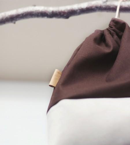 brun pose til sutter eller bleer fra lehof
