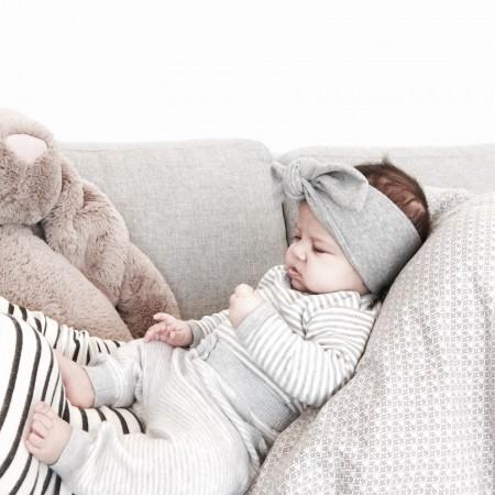 hårbånd til børn og voksne i grå sort creme rosa grøn navy mønstret
