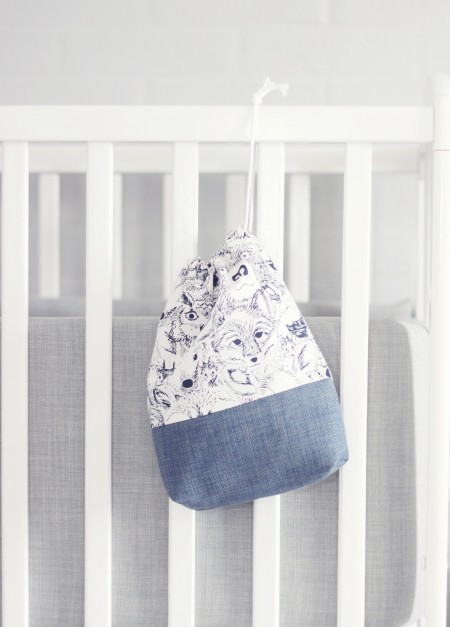 frugtpose puslepose pusletaske eller bare en opbevaringspose til børneværelset fra lehof