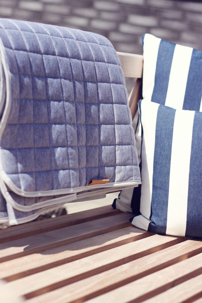firkantet tæppe til stuen eller haven fra lehof