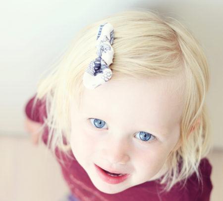hårspænder til børn med krokodillenæb, så de sidder bedre fast i fint hår. syes i økologisk bomuld fra lehof